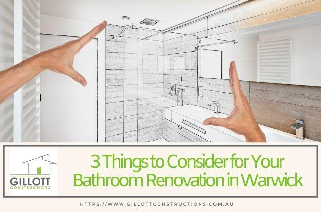 3 Things to Consider for Your Bathroom Renovation in Warwick